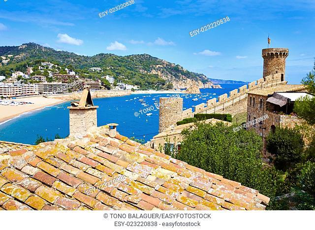 Tossa de Mar castle in Costa Brava of Catalonia Spain