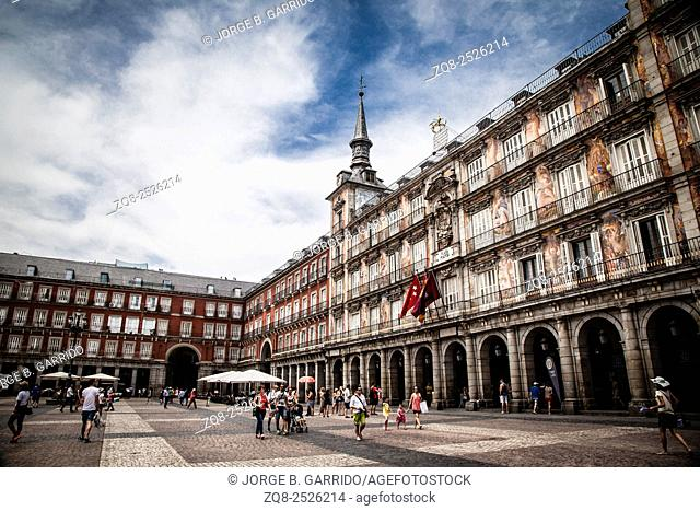 Main square of Mdrid - Plaza Mayor, Spain