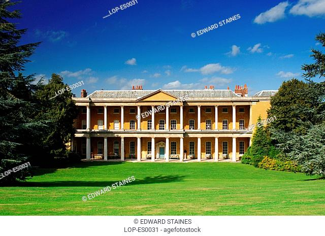 England, Buckinghamshire, West Wycombe, West Wycombe House. West Wycombe village is owned by the National Trust