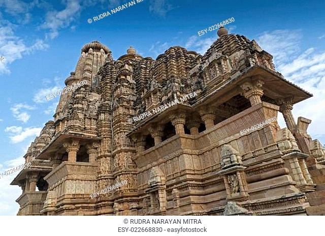 Vishvanatha Temple, dedicated to Shiva, Western Temples of Khajuraho, Madya Pradesh, India - UNESCO world heritage site