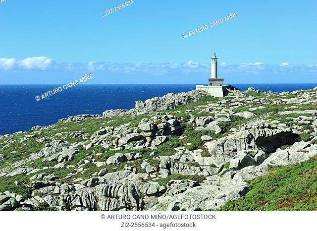 The lighthouse of Punta Nariga. Malpica de Bergantiños, La Coruña, Spain