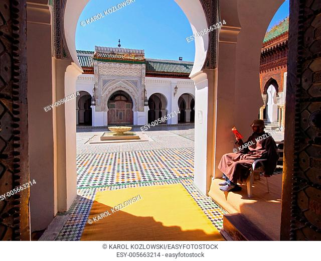 Entrance of the University of al-Karaouine in Fes, Morocco, which is the oldest continually operating university in the world