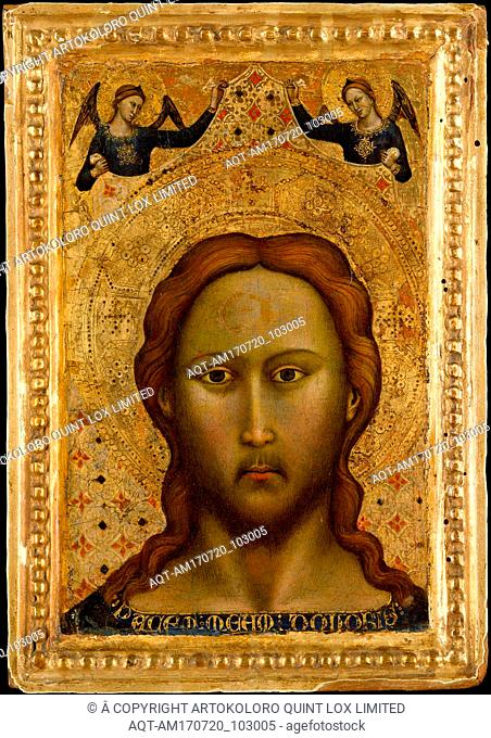 Head of Christ, Tempera on wood, gold ground, Overall, with engaged frame, 11 5/8 x 8 1/8 in. (29.5 x 20.6 cm); painted surface 9 5/8 x 6 1/8 in. (24