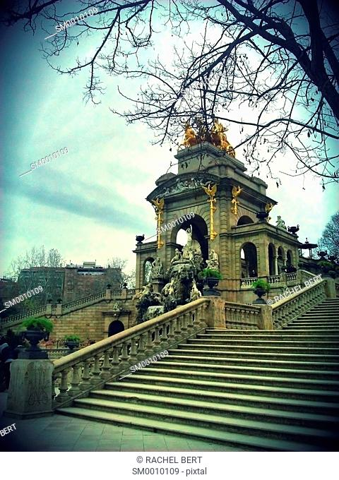 Gran Cascada by Josep Fontserè, Fountain With The Chariot Of Aurora, Barcelona, Spain