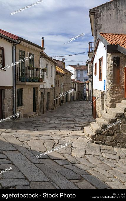Streets of Allariz, Ourense Province, Galicia, Spain