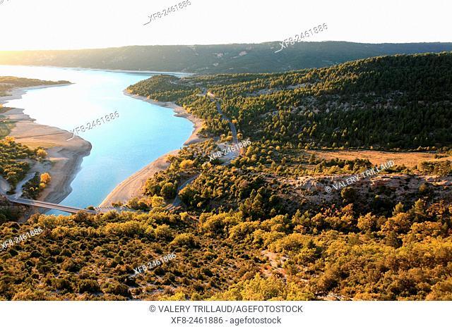Sainte Croix du Verdon lake, Verdon regional park, Alpes de Haute Provence, Provence, France