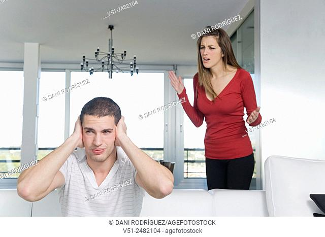 Couple conflict at home
