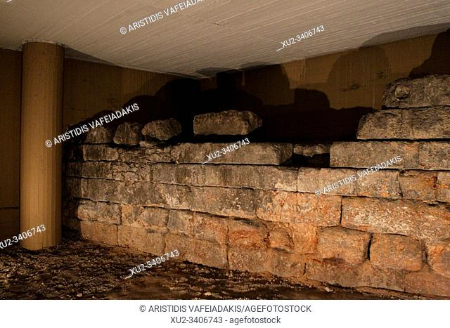 At the basement of a bank in central Athens. The Themistoklean wall surrounds Athens like a historical chain. The areas it runs through are often associated...
