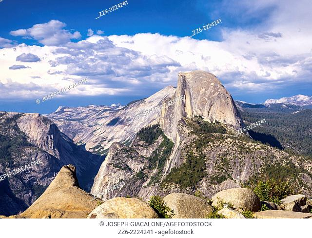 View of Half Dome from Glacier Point. Yosemite National Park, California, United States