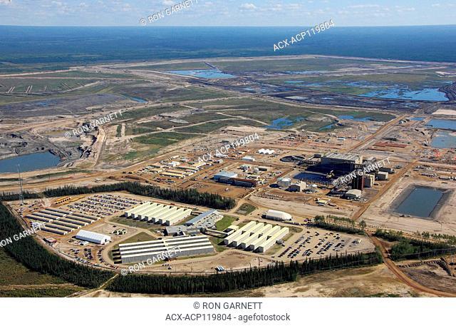 aerial, Shell Albian Sands Fort MacKay, Alberta