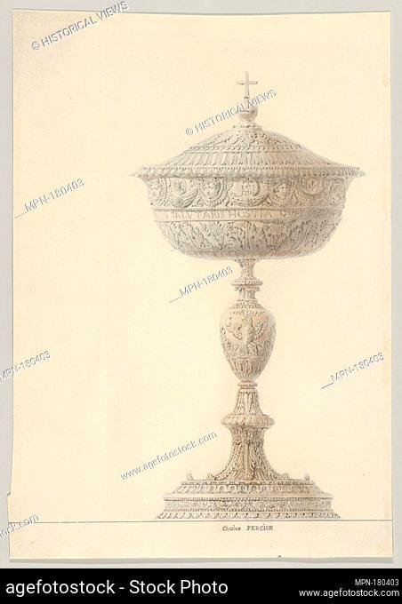 Ciborium for the Coronation of Napoleon I. Artist: Charles Percier (French, Paris 1764-1838 Paris); Date: 1804; Medium: Graphite, pen and brown ink
