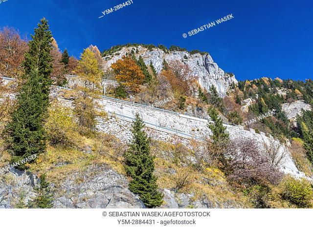 Passo di Monte Croce Carnico in the Carnic Alps, Paluzza, Province of Udine, region Friuli-Venezia Giulia, Italy, Europe