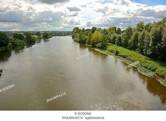 The Loire River in the Saone et Loire department. France, Europe