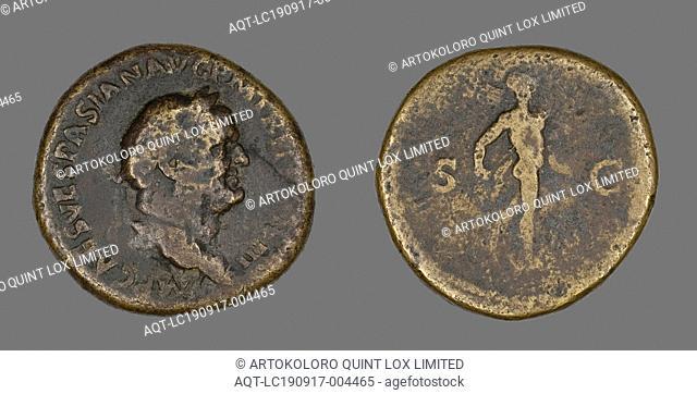 Sestertius (Coin) Portraying Emperor Vespasian, AD 71, Roman, Roman Empire, Bronze, Diam. 3.2 cm, 24.61 g