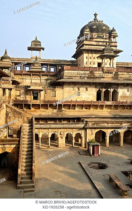 Orchha Palace, Madhya Pradesh, India  Jahangir Mahal is one of the most finest and vivid examples of classical Mughal architecture It was completed in the year...