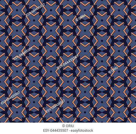 Abstract seamless ornament pattern. Vector illustration