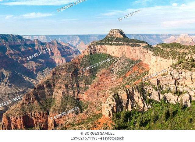 Aerial view of Grand Canyon National Park in Arizona