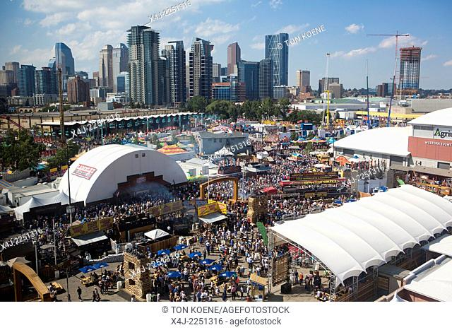 fairground at the stampede in Calgary