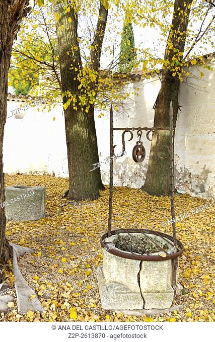 El Toboso. Castilla-La Mancha, Spain. Dulcinea house courtyard