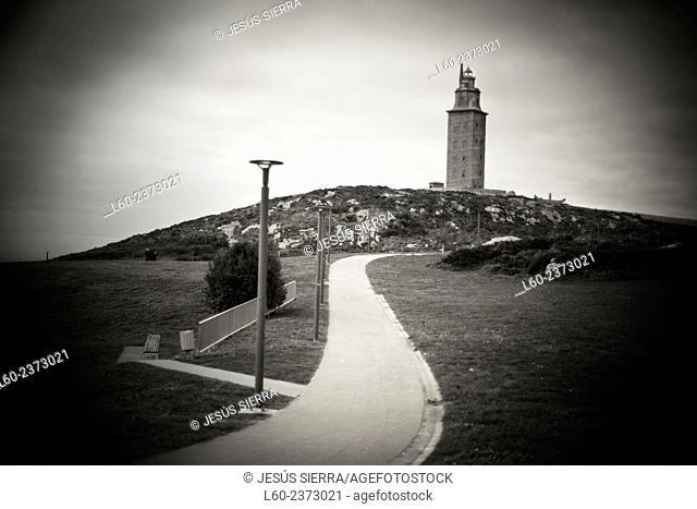 Tower of Hercules, Roman lighthouse, A Coruna, Galicia, Spain
