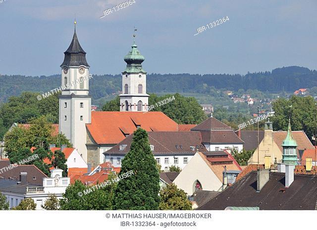 Catholic church Muenster Unserer Lieben Frau, Minster of Our Lady, former collegiate church Mariae Himmelfahrt, Church of the Assumption, left