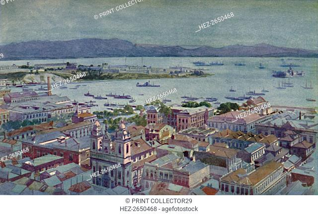 'A bit of Rio with the Ilha das Cobras and the Ilha Fiscal', 1914. Artist: Unknown
