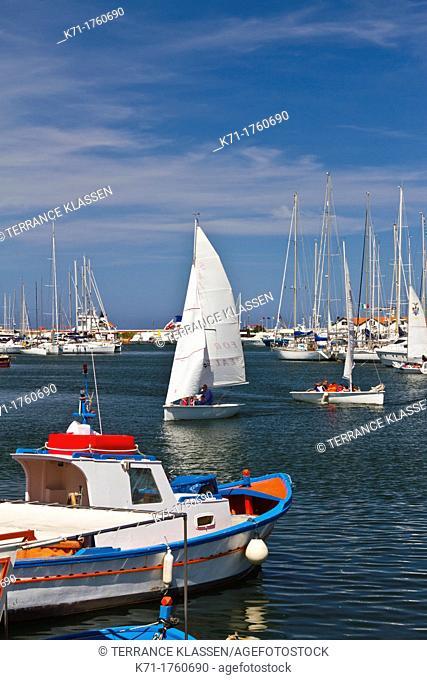 The marina, Marina Villa Igiea Acquasanta in Palermo, Sicily, Italy