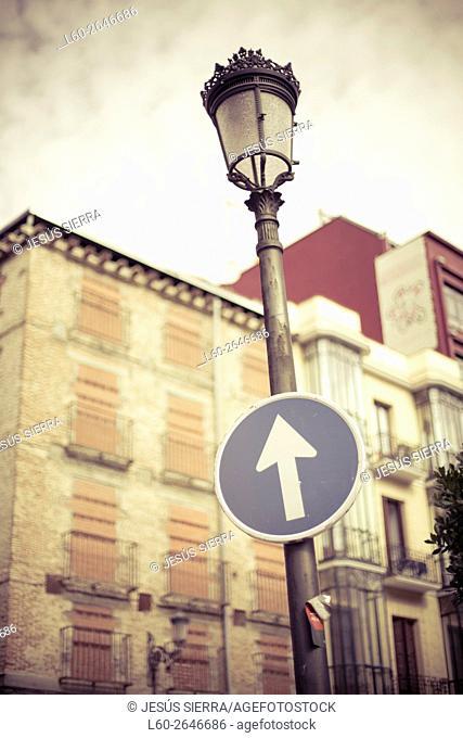 Facades in Madrid. Spain