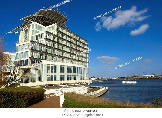 Exterior of St David's Hotel in Cardiff Bay