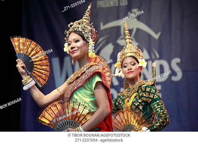 Canada, Quebec, Montreal, Cambodian, festival, people, dancers,
