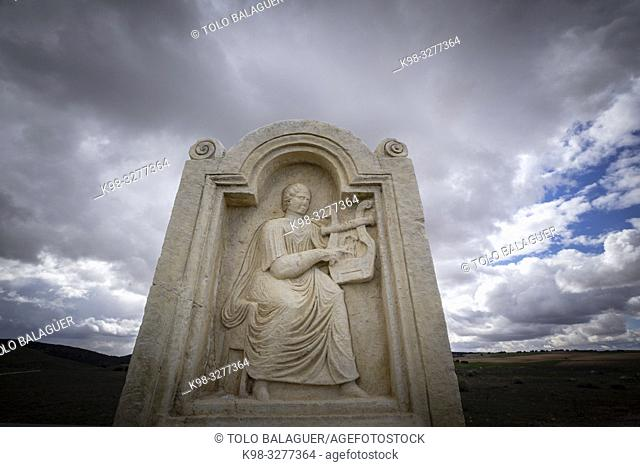 estela de Lucunda, parque arqueológico de Segóbriga, Saelices, Cuenca, Castilla-La Mancha, Spain