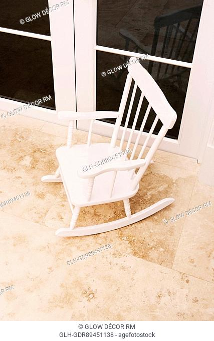 High angle view of a rocking chair