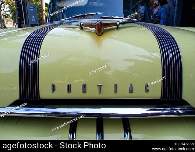 name badge of 1956 Pontiac, Chiang Mai, Thailand
