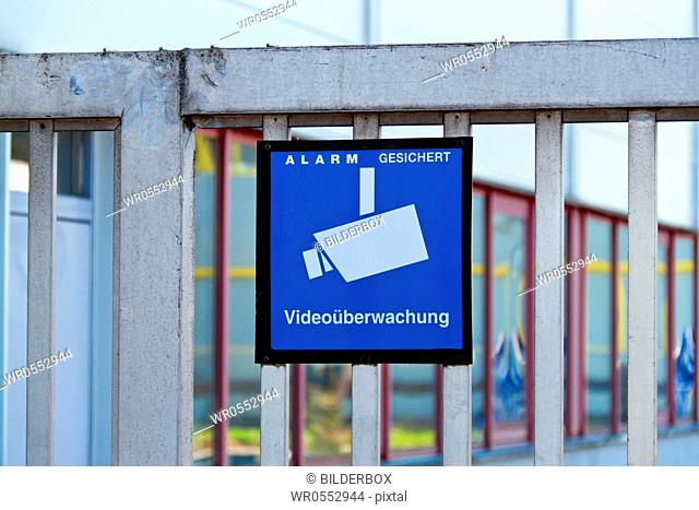 The premises of a company is monitored by video