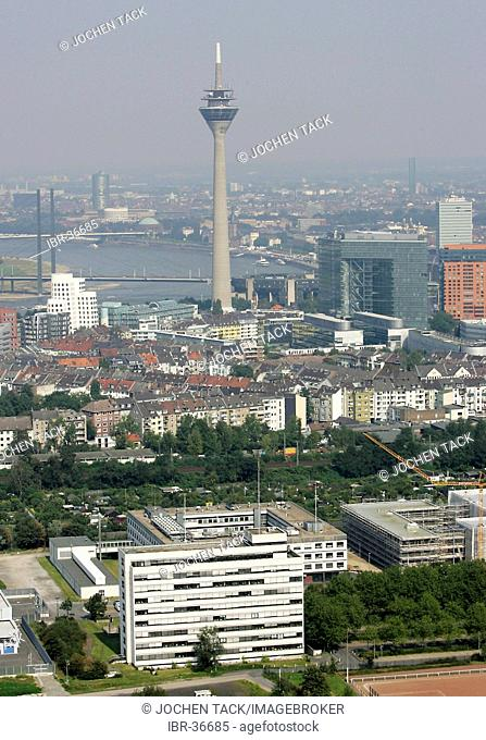 DEU, Germany, Duesseldorf: City center of Duesseldorf, foreground, the buildings of the federal police, LKA
