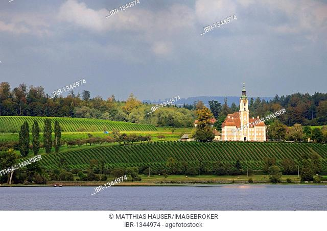 Birnau pilgrimage church, Lake Constance, Baden-Wuerttemberg, Germany, Europe