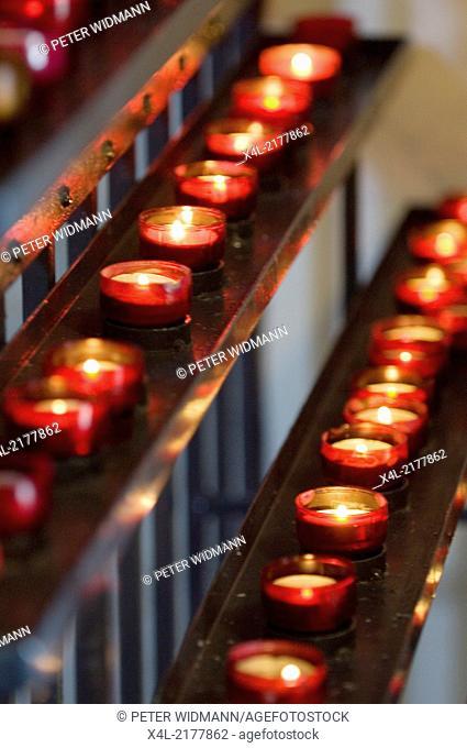 Eisenstadt, Hadyn hill church, candles, Austria, Burgenland