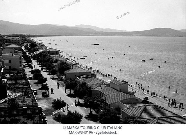 toscana, follonica, veduta della costa, 1930-40 // follonica, tuscany, italy 1930-40