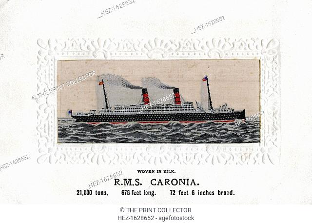 'RMS Caronia', 20th century. In 1916, she became a troopship and served in that role for the duration of the war