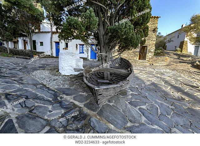Port Lligat, small Mediterranean village. overlooking the bay of Cap de Creus, and home to the Spanish, surrealist artist Salvador Dalí for almost three decades