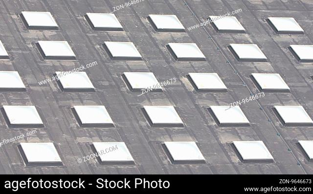 Roof window square cells, large roof in the Netherlands