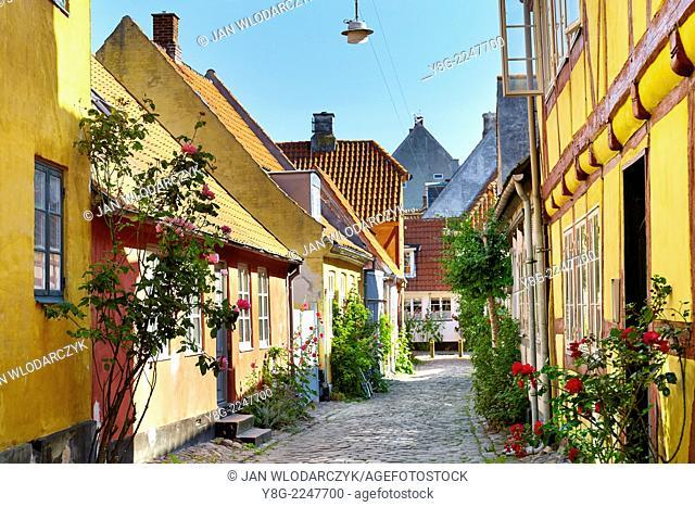 Old town in Helsingor, Denmark