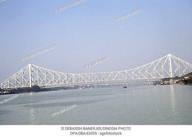 Howrah Bridge or the Rabindra Setu , Calcutta , West Bengal , India