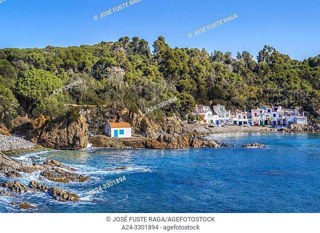 Spain, Catalunya , Girona Province, Palamos City, Costa Brava, Alguer Beach