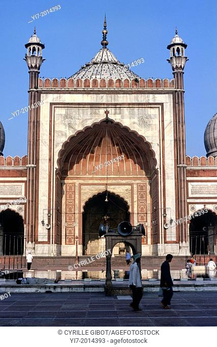 Jama Masjid mosque, Great Friday Mosque, Old Delhi, India, Asia