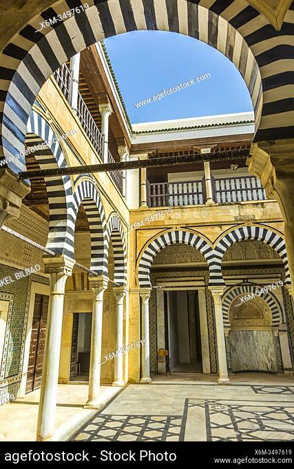Courtyard. Sidi Abid al-Ghariani Mausoleum. Kairouan. Tunisia. Africa