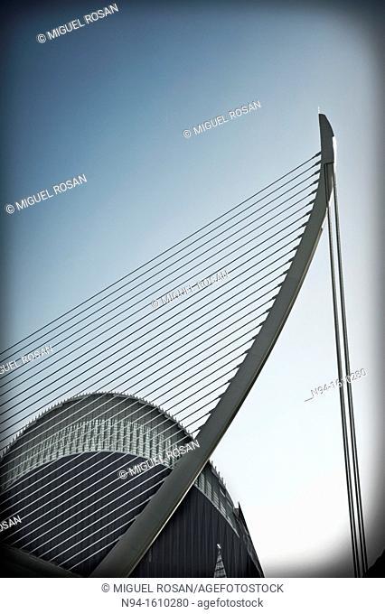 Agora and Assut d'or bridge, Ciudad de las Artes y las Ciencias, Valencia