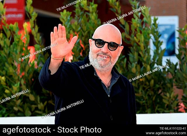 Director Gianfranco Rosi on red carpet at the 15th Rome Film Festival, Rome, ITALY-19-10-2020