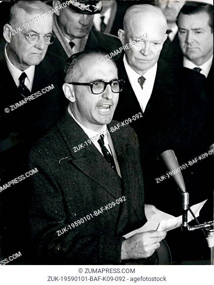 Jan. 01, 1959 - President Of Argentina Arrives In Washington For State Visit --Argentine Unions Call Off Strike: As all unions in the Argentine told their...