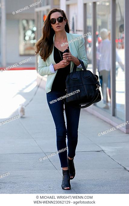 Elizabeth Chambers gets her nails done at Beverly Hills Nail Design Featuring: Elizabeth Chambers Where: Los Angeles, California